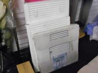 RADIATORS BRAND NEW UNUSED 3 LARGE MEDIUM & SMALL SPARE THESE LEFT CAN DELIVER FREE MCR OR NEAR