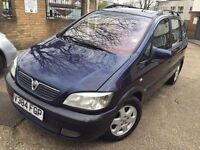 AUTOMATIC Vauxhall ZAFIRA. 7 SEATER. BRILLIANT DRIVE. 06-17 MOT. LOW MILEAGE.FREE WARRANTY.