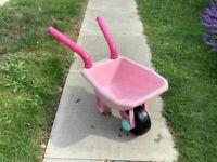 FREE!!!! Cute pink plastic wheelbarrow
