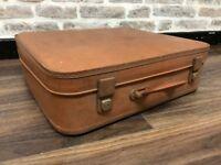 Retro Medium Brown Suitcase Trunk