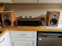 Sony Amplifier & Gale Gold Monitor Speakers