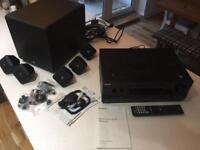 Surround sound system. Sony multi receiver and Boston speakers