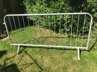 Crowd Control Barriers, Galvanised Steel 7ft by 3ft 6ins