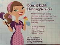Doing it right domestic cleaning services