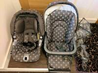 Baby pram and push chair and car seat