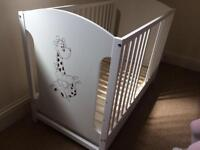 Baby cot mattress and drawer