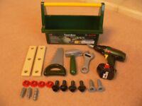 BOSCH DIY Play tool Box Toys Kids Set Pretend Children Role Play Bosch Tool Case Game