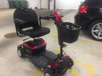 Nearly new Pride Apex Rapid 4 wheel mobility scooter. Perfect condition.