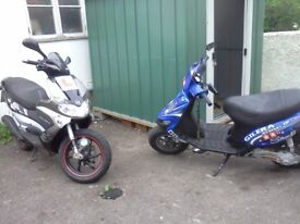 x3 Gilera - x2 stalker x1 runner + parts + tools + whole shed