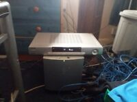 SONY AV AMP/RECIEVER & SONY SUBWOOFER 5 X Speakers all wires leads included..