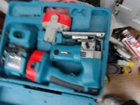 18 VOLT MAKITA CORDLESS JIGSAW NiMH BODY MODEL 4334D. IN GOOD WORKING ORDER