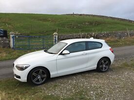 2013 BMW 116D SPORT MANUAL 3 DOOR ALPINE WHITE FSH *FREE ROAD TAX* IMMACULATE