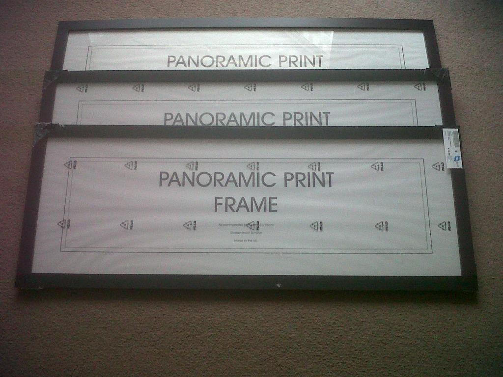 Panoramic Print Frames 100 x 38 cms for prints 33 x 95 cms. £4 each ...