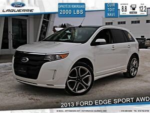 2013 Ford Edge **SPORT*AWD*CUIR*TOIT*NAVI*CAMERA*A/C 2 ZONES