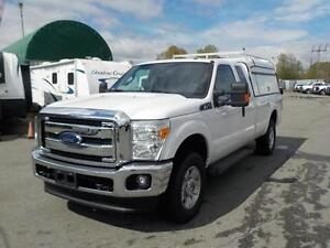 2016 Ford F-250 Sd Xlt with Service Canopy & Ladder Rack