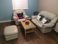 Cream Leather sofa Swap