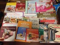 Joblot of 50 cookbooks