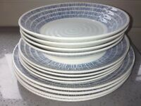 NEW Churchill queens Sieni Dashie 12 piece dinner set includes bowls, side & dinner plates