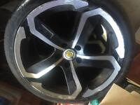 "Dotz 18"" alloy wheels and tyres"
