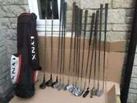 Set Golf Clubs and Bag.