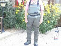 Wychwood fishing waders, Volare boots and Wychwood fly vest in perfect condition and hardly used.