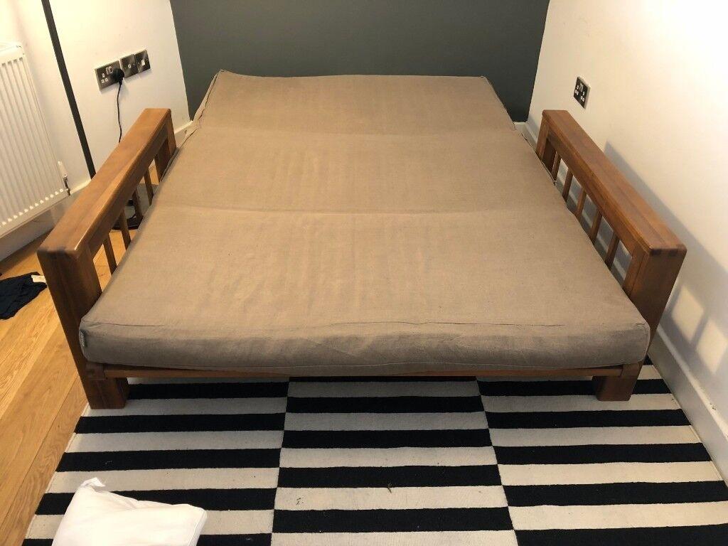 Futon Company Double Sofa Bed Solid Oak Frame
