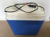 Car Electric Coolbox Travel Mini Refrigerator Portable Fridge Box 24L Freezer + 6 x cooler packs