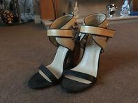 Weird Boohoo cork heels - size 4