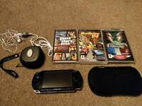 PSP in Excellent condition. 3 Great games. 1GB card