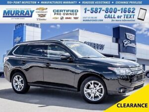 2014 Mitsubishi Outlander GT**Fully Loaded!  Low kms!**