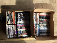 OVER 80 DVDS. BARGAIN ONLY £4 THE LOT . BE QUICK CAR BOOTERS