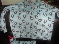 Fleece Penguin Pyjamas size L (14-16)