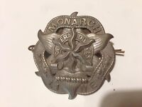 Antique Monarch Line shipping cap badge.. late 1800's