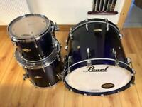2015 Pearl Masters Premium Birch SST + 14x6.5 Pearl brass free floating snare