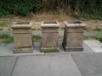 3 x matching chimney pots