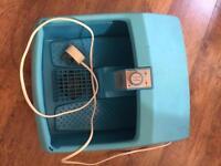 Foot spa (keeps water hot and vibrates)