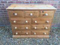 Solid chunky pine chest of drawers. Dovetail Joints. Quality solid build