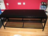 Black lacquered TV Bench