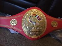 WBC NABF boxing title belt