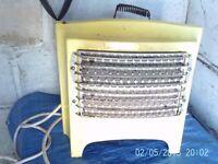 vintage electrik fire yellow enamal 20/ 30s