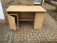 Sturdy, well built office desk with space for a desktop PC, and shelves!