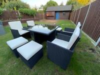 9 piece Rattan Garden Furniture set