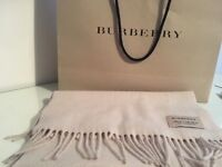 100% authentic Burberry scarf cashmere. Oatmeal colour beautifully soft.