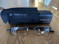 Tag Heuer male glasses frames. Black