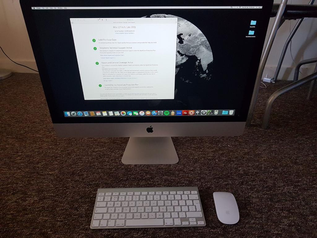 """Apple IMac 27Top Specin Enfield, LondonGumtree - Mid 2013 27"""" iMac in very good condition and has hardly been used. I have the box and all the accessories that came with the mac. Original price was £2200. This iMac also has the apple warranty until July 2017. This is a dream computer for..."""