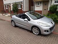 Peugeot 207 CC. 1.6 VTi Allure (2010) 2d (2010/10) (a/c) in South Wales.