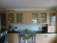 Kitchen Units (Wall and Base) Some with glass doors. Various sizes. Worktops also available.