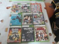 Wrestling figures and wrestling dvds and xbox360 gamea