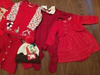 Christmas baby girl bundle 0-3 month