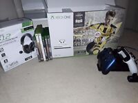 1TB Xbox one S, spare pad, headset and games - £350
